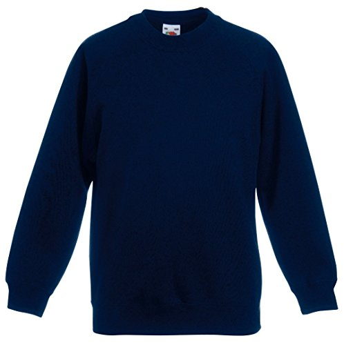 Fruit Of The Loom Kids Childrens Raglan Style Sweatshirt Deep Navy 9-11 Years from Fruit of the Loom