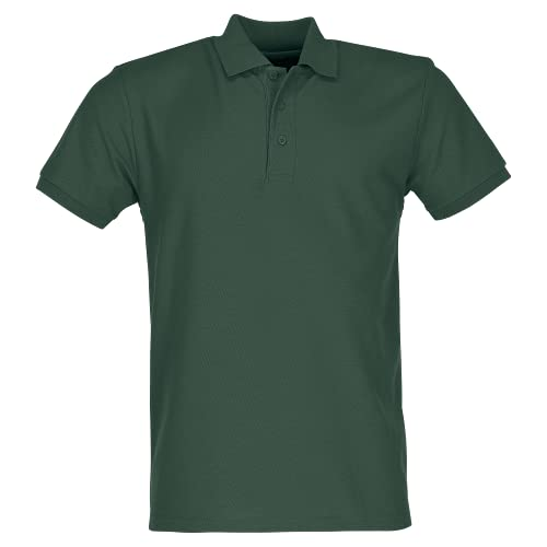 Fruit of the Loom Men's 65/35 Polo Shirt, Bottle Green, Large from Fruit of the Loom