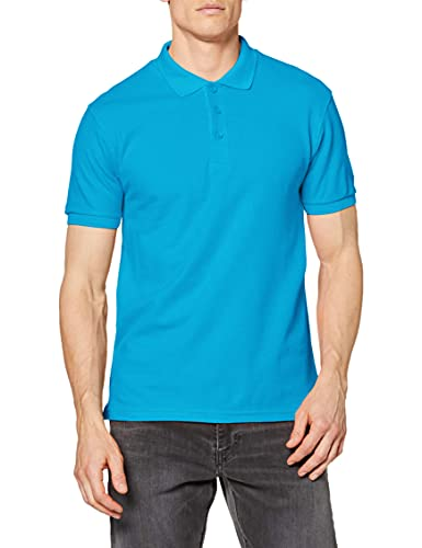 Fruit of the Loom Men's Premium Short Sleeve Polo Shirt, Azure, X-Large from Fruit of the Loom