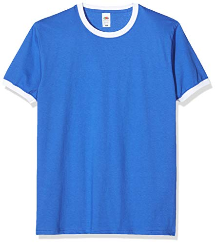 Fruit Of The Loom Men's SS040M T-Shirt, Blue (Royal/White), Small from Fruit of the Loom