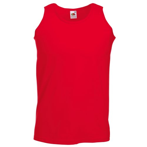 Fruit Of The Loom Mens Athletic Sleeveless Vest / Tank Top (XL) (Red) from Fruit of the Loom