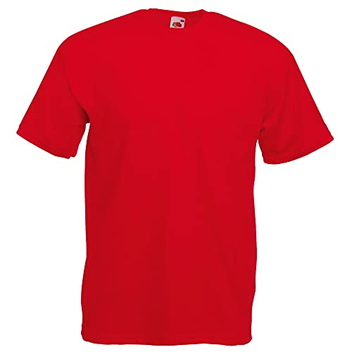 Fruit of the Loom Men's Short-Sleeved T-Shirt -  Red - Small from Fruit of the Loom