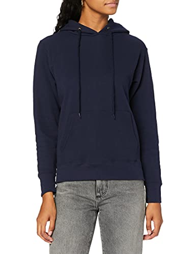 Fruit of the Loom Women's Pull-over Classic Hooded Sweat, Deep Navy, 12 (Manufacturer Size:Medium) from Fruit of the Loom