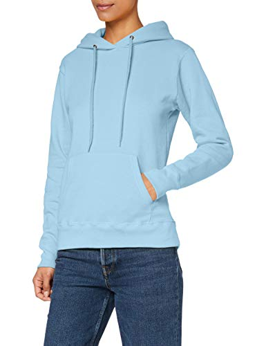 Fruit Of The Loom Women's Lady-Fit Classic 80/20 Hooded Sweat Sky Blue  14 (Manufacturer Size:Large) from Fruit of the Loom