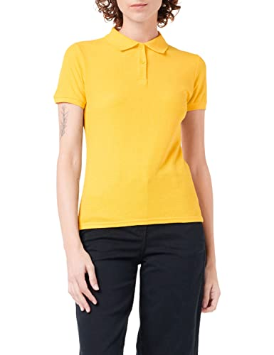 FRUIT OF THE LOOM Women's 65/35 Polo Shirt, Yellow (Sunflower Yellow), XS UK from Fruit of the Loom