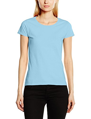 FRUIT OF THE LOOM Women's Original T. T Shirt, Sky, L UK from Fruit of the Loom
