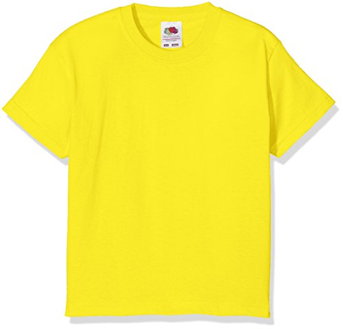 53f2b153 Fruit of the Loom Boy's Value T Plain Round Collar Short Sleeve T-Shirt,