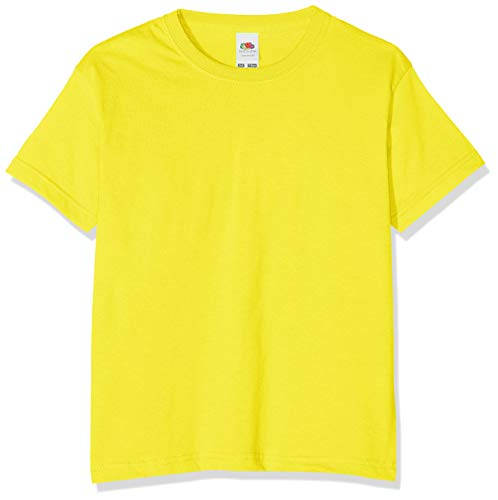 Fruit of the Loom boys' t-shirt., Boys', 61-033-0, Yellow, 116 cm from Fruit of the Loom