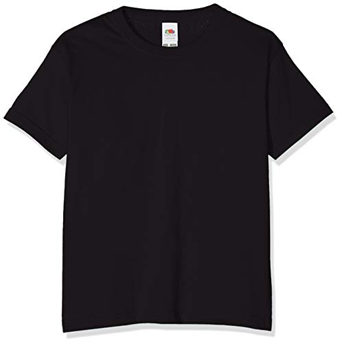 Fruit of the Loom Childrens T Shirt in Black Size 9-11 (SS6B) from Fruit of the Loom