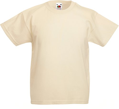Fruit of the Loom Childrens T Shirt in Natural Size 9-11 (SS6B) from Fruit of the Loom