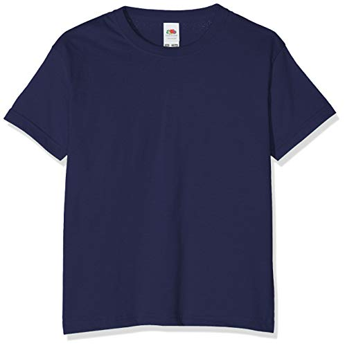 Fruit of the Loom Childrens T Shirt in Navy Size 7-8 (SS6B) from Fruit of the Loom