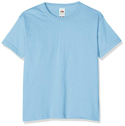 Fruit of the Loom Childrens T Shirt in Sky blue Size 14-15 (SS6B) from Fruit of the Loom