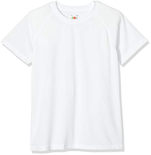 Fruit of the Loom Childrens T Shirt in White Size 1/2 (SS6B) from Fruit of the Loom