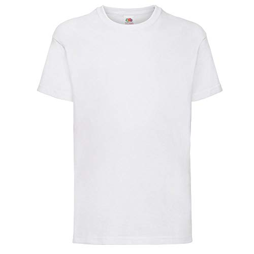 Fruit of the Loom Childrens T Shirt in White Size 7-8 (SS6B) from Fruit of the Loom