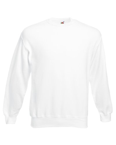 Fruit of the Loom Men's 62-202-0 Pullover Sweater, White, XL from Fruit of the Loom