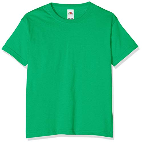 Fruit of the Loom Girls' T-Shirt Green Grün (Kelly) Size:104 (EU) from Fruit of the Loom