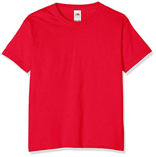 Fruit of the Loom Girls' T-Shirt Red red Size:164 (EU) from Fruit of the Loom