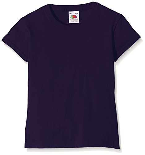 Fruit of the Loom Girls Valueweight T-Shirt, Purple, 7-8 Years (Manufacturer Size:30) from Fruit of the Loom