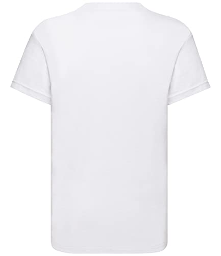 Fruit of the Loom Kids Original T Shirt - 21 Colours / Age 3-15 Ye - White - 911 from Fruit of the Loom