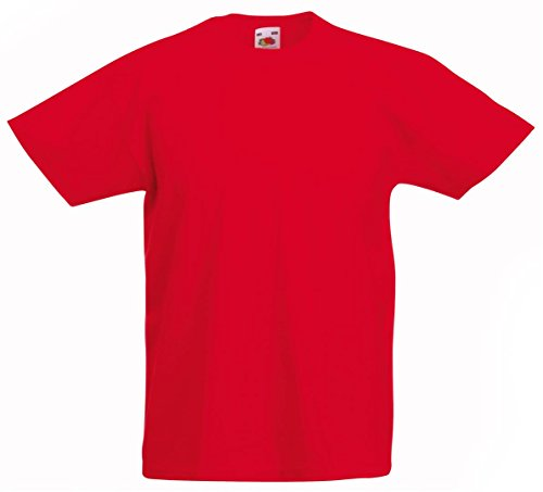 Fruit of the Loom Kids Value Short Sleeve T Shirt Red 9-11 from Fruit of the Loom