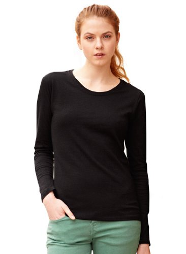 Fruit of the Loom Long-Sleeve T-Shirt in and Sizes - Black - Large from Fruit of the Loom