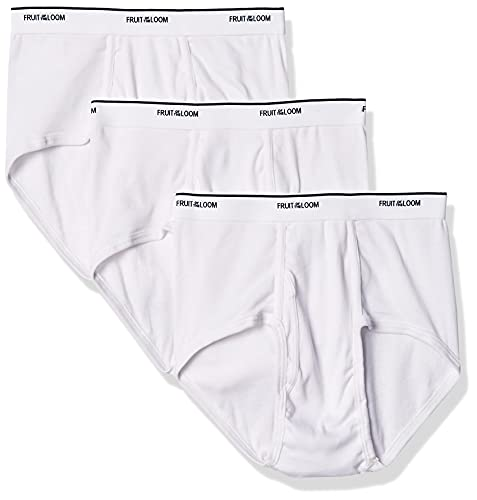 FRUIT OF THE LOOM Men's Brief 3 Pack, White, XXX-Large(Pack of 3) from Fruit of the Loom