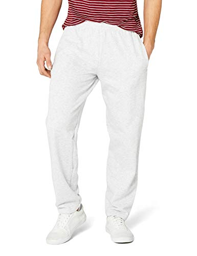 Fruit of the Loom Men's Open Hem Classic Jog Pants, Heather Grey, X-Large from Fruit of the Loom