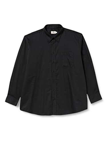 "Fruit of the Loom Men's Oxford Long Sleeve Shirt, Black, 17"" Collar (Manufacturer Size:X-Large) from Fruit of the Loom"