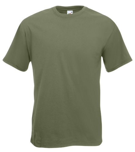 Fruit of the Loom Men's Super Premium Short Sleeve T-Shirt, Classic Olive, X-Large from Fruit of the Loom