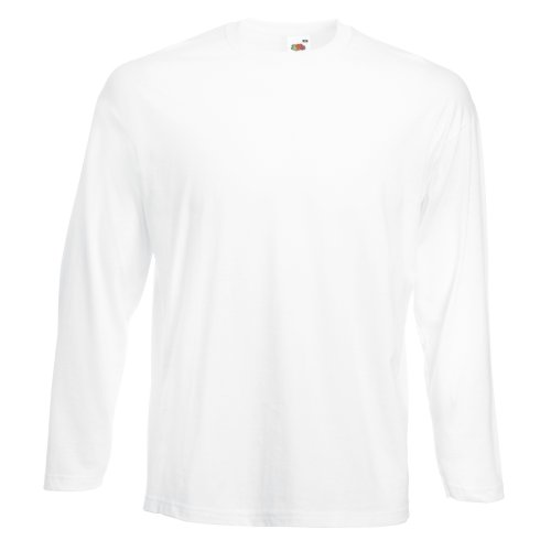 Fruit of the Loom Long Sleeve T-Shirt - White - L from Fruit of the Loom