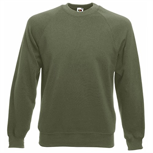 Fruit of the Loom Men's Raglan Classic Sweater, Bottle Green, XX-Large from Fruit of the Loom