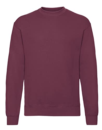 Fruit of the Loom Men's Set-In Classic Sweater, Burgundy, Small from Fruit of the Loom