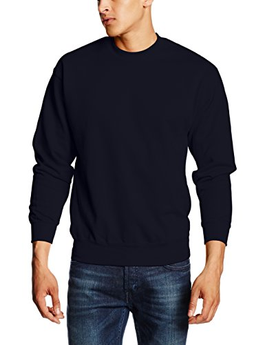 Fruit of the Loom Men's Set-In Classic Sweater, Deep Navy, XX-Large from Fruit of the Loom