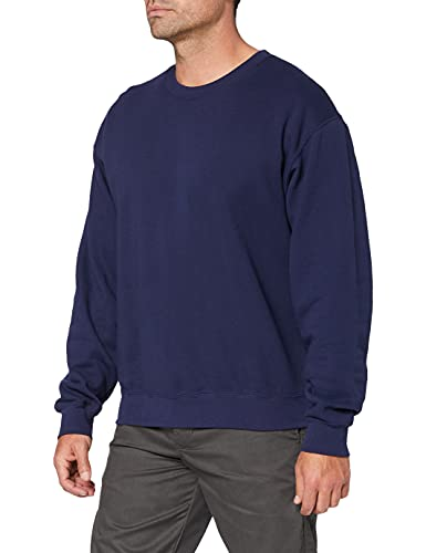 Fruit of the Loom Men's Set-In Classic Sweater, Navy, X-Large from Fruit of the Loom