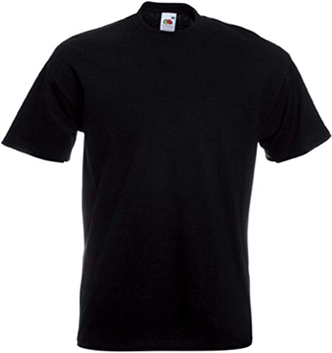 Fruit of the Loom Men's Super Premium Short Sleeve T-Shirt, Black, Medium from Fruit of the Loom