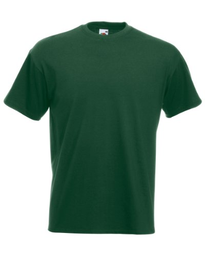 Fruit of the Loom Men's Super Premium Short Sleeve T-Shirt, Bottle Green, X-Large from Fruit of the Loom