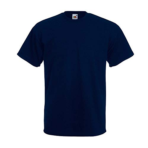 Fruit of the Loom Men's Super Premium Short Sleeve T-Shirt, Deep Navy, X-Large from Fruit of the Loom