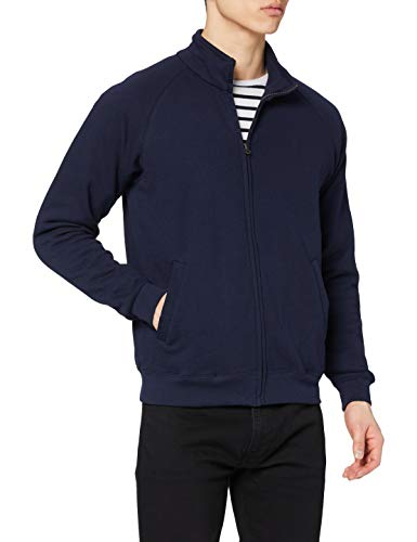 Fruit of the Loom Men's Zip front Classic Jacket, Deep Navy, Small from Fruit of the Loom