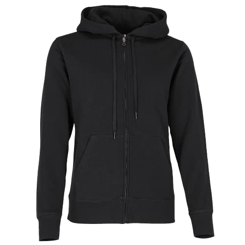 FRUIT OF THE LOOM Women's Zip Front Premium Hooded Sweat, Black, XL UK from Fruit of the Loom