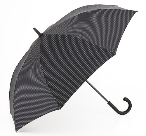 Fulton Fulton Knightsbridge 2 City Blk/Steel Unisex_adult Umbrella City Stripe Black/Steel Print One Size from Fulton