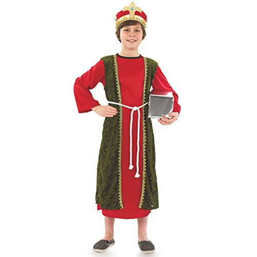 Fun Shack Childrens Red Wise Man Costume - AGE 8 - 10 YRS (L) from Fun Shack