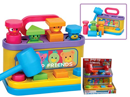 Pop Up Friends with Hammer and Shape Sorter from Fun Time