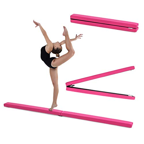 Fun!ture Pink Faux Leather Folding Gymnastics Training Balance Beam from Fun!ture