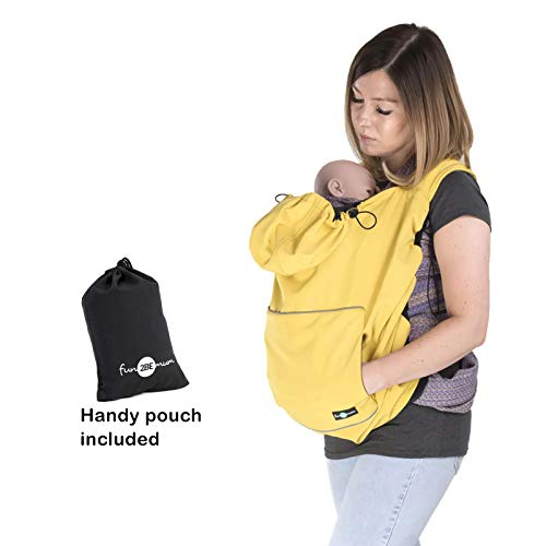 Fun2bemum Softshell Babywearing Baby Carrier Sling Cover All Weather Wrap (Yellow Mustard) from Fun2bemum