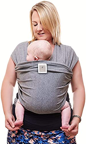 Premium Baby Carrier | Neutral Grey | One Size Fits All | Cozy & Soothing For Babies | Suitable for Newborns, Infants & Toddlers | Cotton/Spandex Comfort Fabric |100% Infinity Guarantee | Ideal Gift from Funki Flamingo