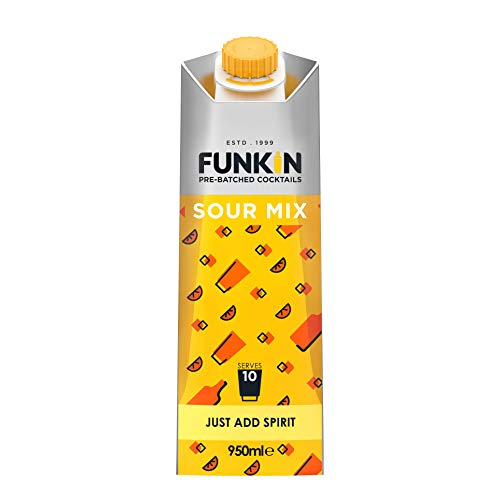 Funkin Sour Mix Cocktail Mixer, 1 L - Case of 6 from Funkin