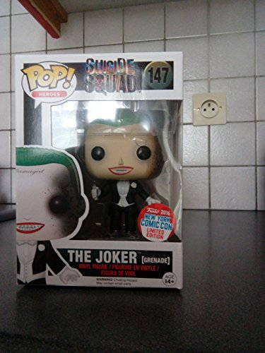 FUNKO SUICIDE SQUAD THE JOKER (GRENADE) NYCC 2016 EXCLUSIVE POP VINYL FIGURE from Funko