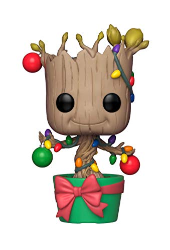 Funko Pop 33982 POP! Bobble: Marvel: Holiday Groot w/Lights & Ornaments Multi from Funko