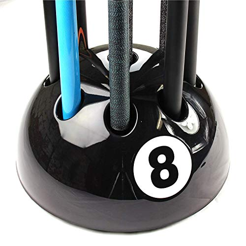 Original Giant BLACK 8 Ball Cue Stand & Rack - Holds Up To 9 Cues from Funky Chalk