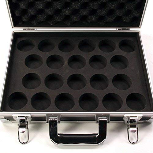 Strong FLIGHT BOX STYLE Aluminium 22 Snooker Ball LOCKABLE Carrying Case from Funky Chalk
